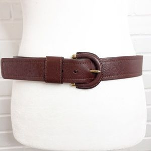 Banana Republic Leather Belt Brown Made in Italy
